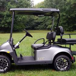 New and Used Golf Carts for Sale | GT Carts | Monticello, In Black Gray Golf Cart Build on black trailer, black tv, black toy hauler, black bus,